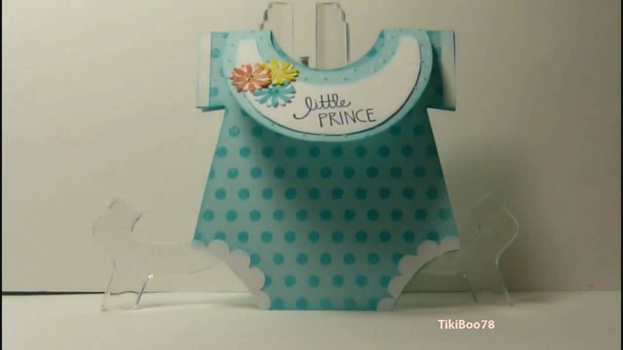 Onesie Baby Shower Card Youtube