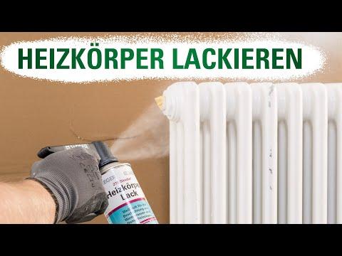 Bevorzugt Heizkörper lackieren mit Heizkörperlack - Jaeger - YouTube BX27