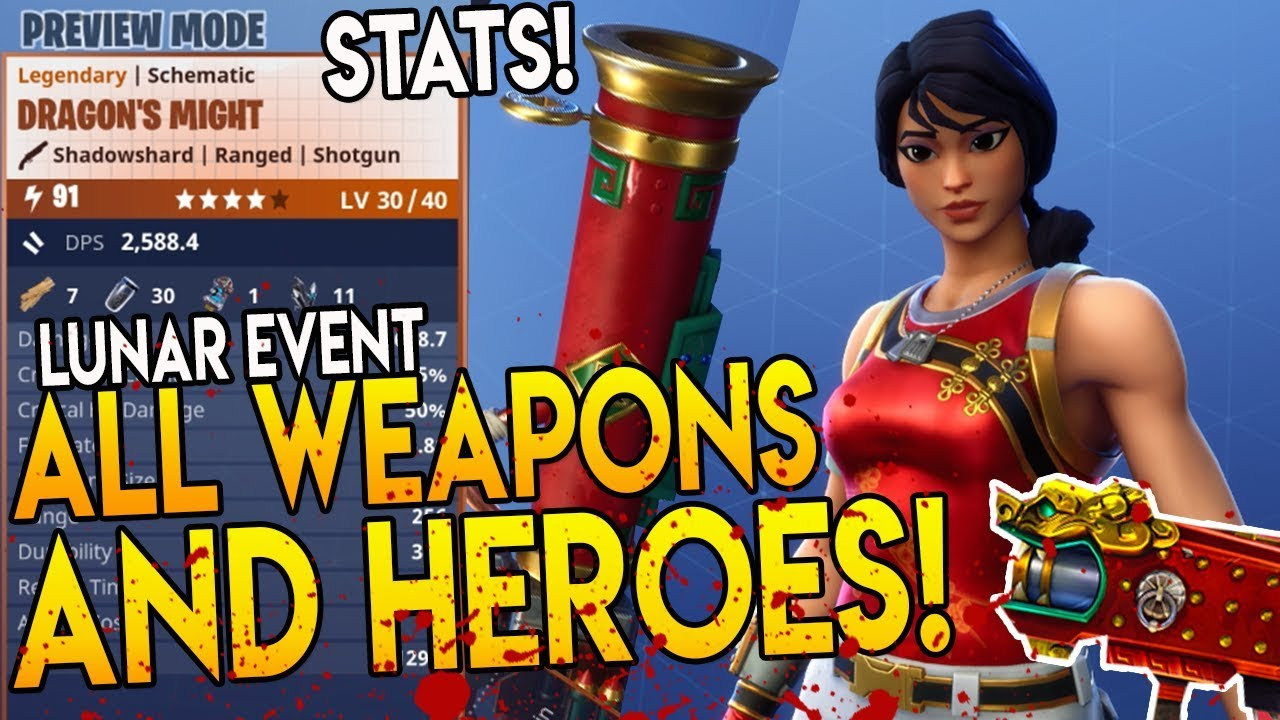 All New Weapons & New Heroes Stats