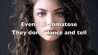 Repeat youtube video Lorde - Team (Lyric Video)