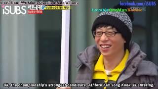 Kookie blushes whenever Jae Suk mentions Yoon Eun Hye. Video cr SBS...