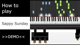 Kyle Landry - Sappy Sunday (Piano tutorial - DEMO - Synthesia)