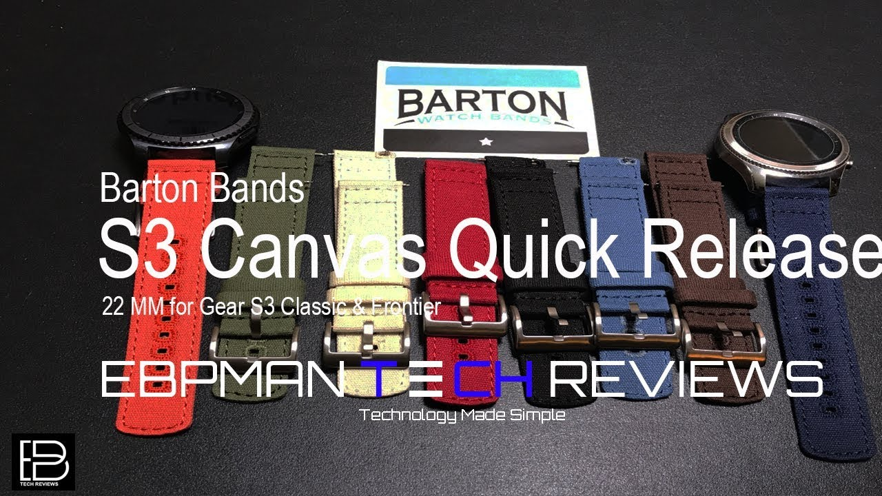 8d5b8c70079 8 New Watch Bands for the S3 Classic   Frontier from Barton Bands ...