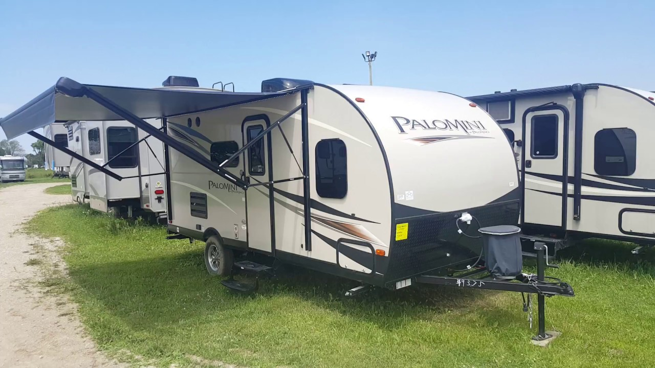 2018 Palomini 177bh Ultra Lite Travel Trailer With Bunkbeds Camp