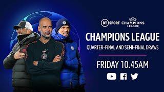 UEFA Champions League 2020/21 Quarter-Final & Semi-Final draw feat. Man City, Liverpool and Chelsea