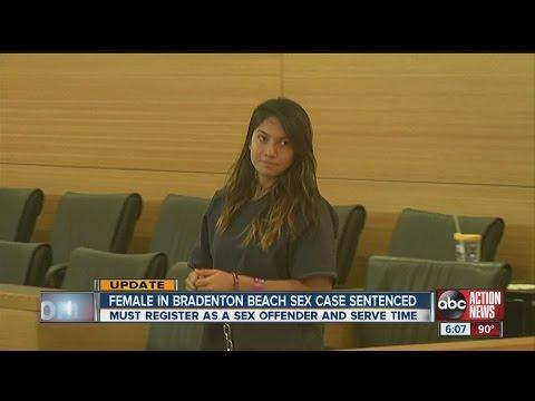 Bradenton woman convicted for sex on beach sentenced
