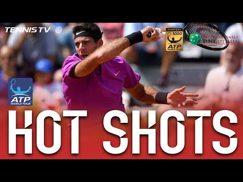 Hot Shot: Del Potro Rips Forehand At Rome 2017
