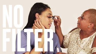 Watch These Moms Try Glossier's New Makeup Line | No Filter | Mother's Day Edition | ELLE