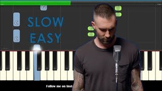 Maroon 5 Girls Like You Slow Easy Piano Tutorial