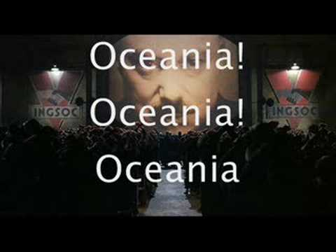 "Oceania anthem ""Oceania, 'Tis for Thee"""
