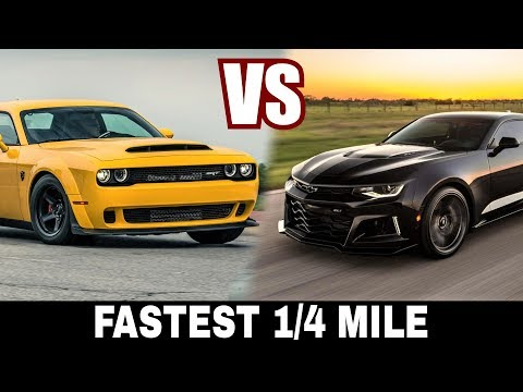 Dodge Demon SRT vs Chevrolet Camaro Exorcist: Best Muscle Cars with Fastest 1/4 Mile