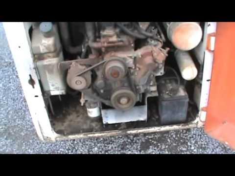 Bobcat 843 Skid Steer Loader For Parts Isuzu Diesel Good Motor For
