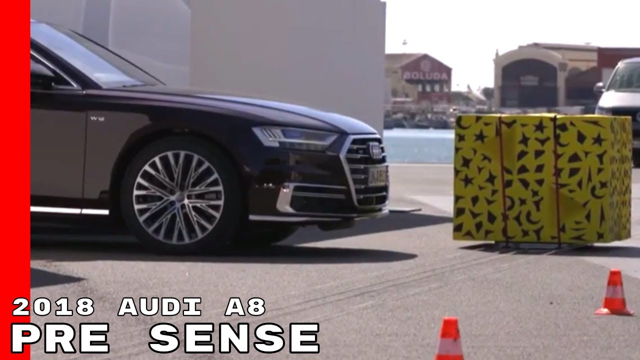 2018 audi a8 pre sense side protection cross traffic assist youtube. Black Bedroom Furniture Sets. Home Design Ideas
