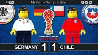 Germany vs Chile 1-1 • Confederations Cup Russia 2017 • 22/06/2017 • Lego Football Film