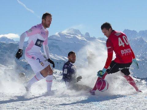 Match sur neige de l'ETG FC aux Gets