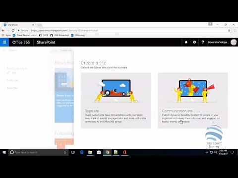 How to create communication sites in SharePoint Online