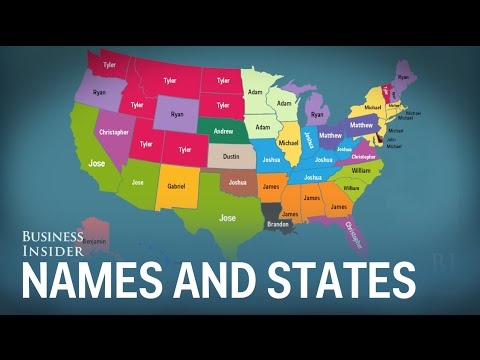 8ae5670c303a7 We can guess your name based on what state you live in - YouTube