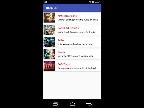 Load Image from database mysql ke list Android Studio bahasa indonesia