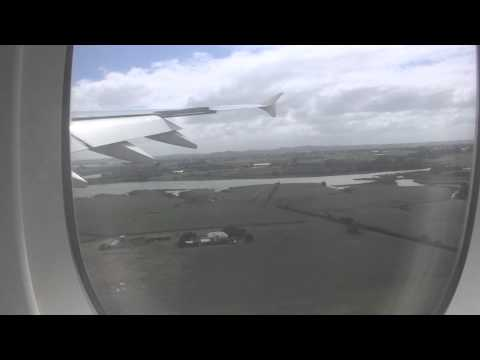 Emirates A380 landing at Auckland