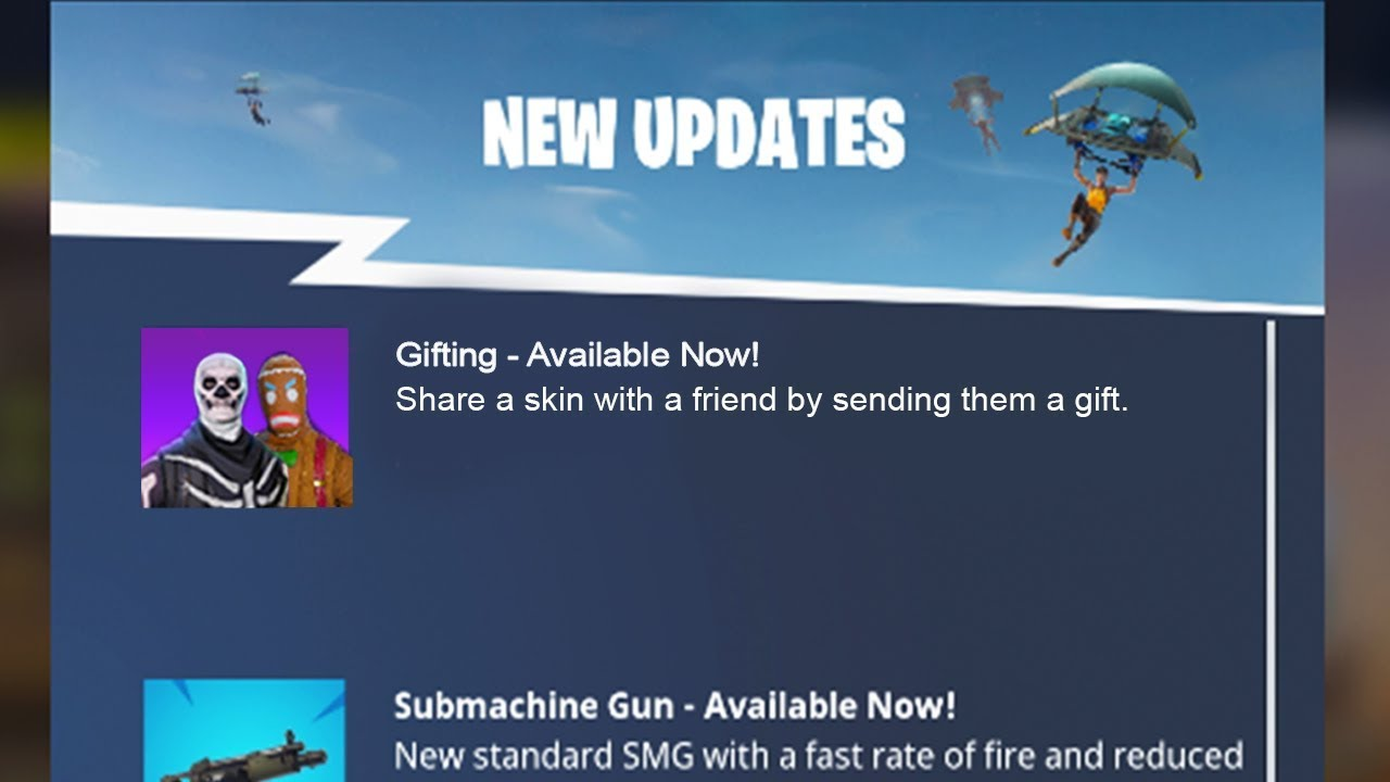 new fortnite gifting system is here fortnite gifting system release date - fortnite gifting system gone