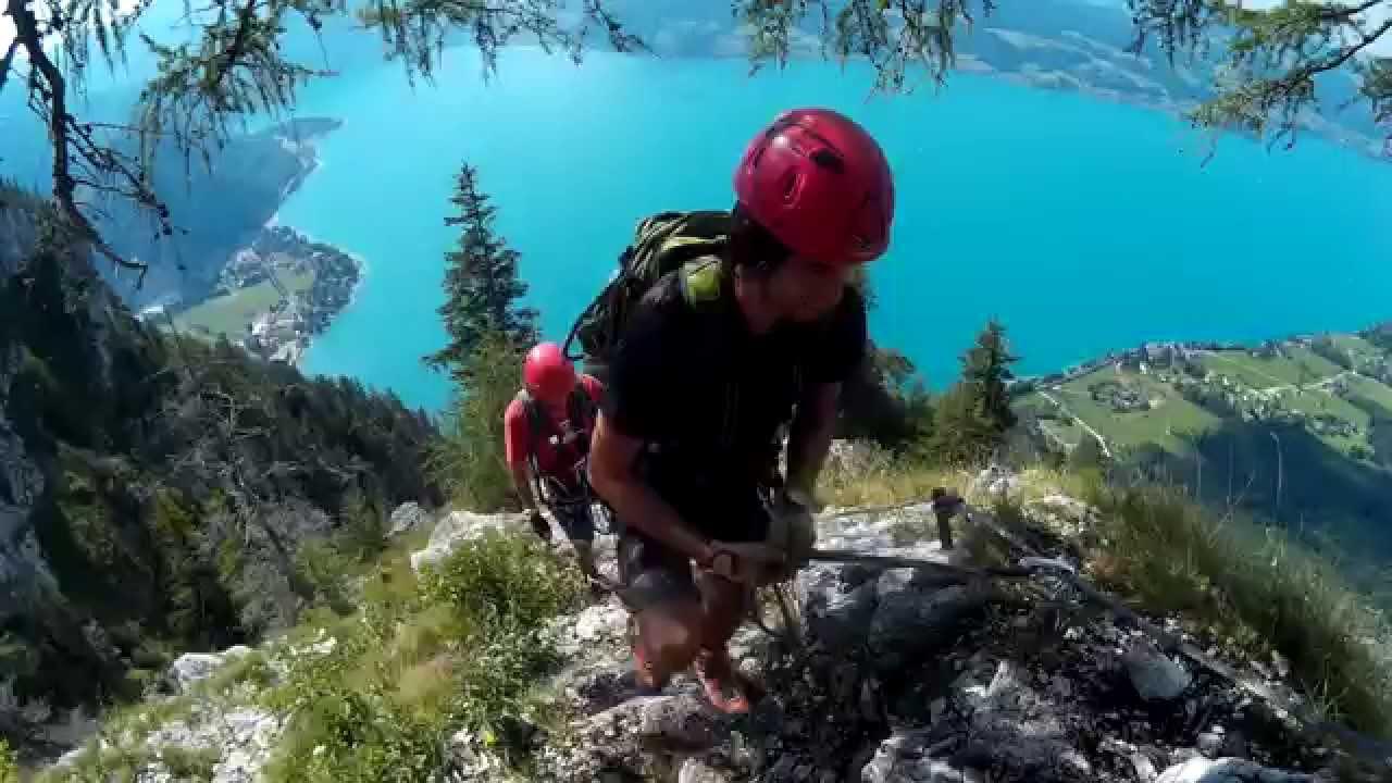 Klettersteig Rakousko : Rakousko attersee ferrata austria klettersteig youtube