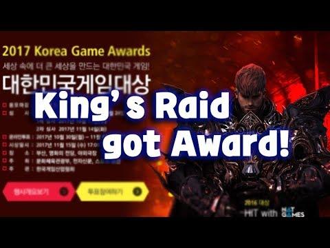 [King's raid/킹스레이드] King's raid got award at '2017 Korea game award'