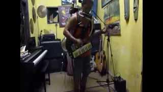 Yon Gondrong - one man band (guitar-pianika-kazoo-panflute-harp-trumpet- drum set) instrument
