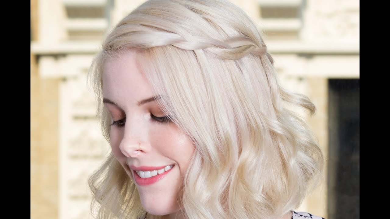 How to Do a Waterfall Braid on Short Hair - YouTube