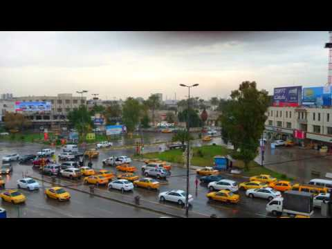 4K Rainy day in Baghdad, IRAQ 2016