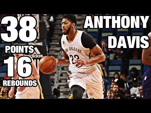 Anthony Davis 38 Points, 16 Rebounds vs Charlotte | 11.19.16