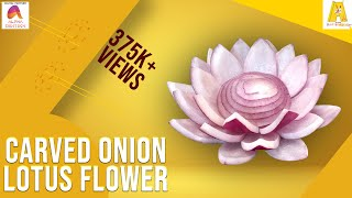 Repeat youtube video Carved Onion Lotus Flower | Vegetable Carving