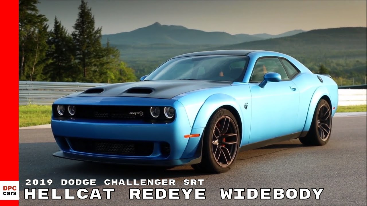 2019 Dodge Challenger Srt Hellcat Redeye Widebody Blue Youtube