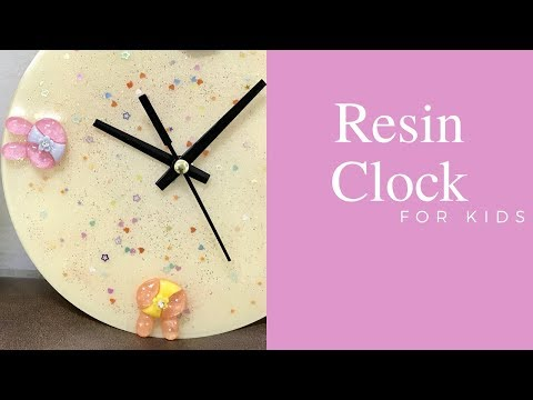 3 layered Resin Clock for Kids ~ Tutorial