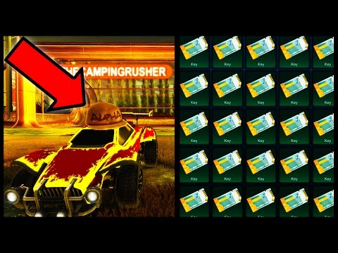 GETTING MY FIRST ALPHA ITEM IN ROCKET LEAGUE!!