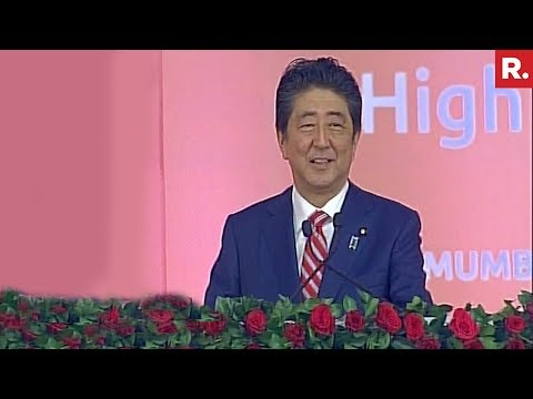 "Japanese PM Shinzo Abe's Full Speech - Says ""Jai Japan, Jai India"""