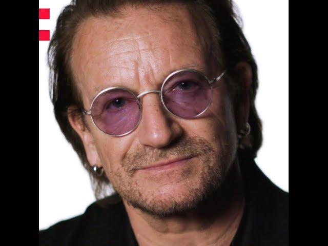 Frame of a video of Bono speaking about the Odyssey project
