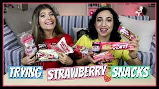 Δοκιμάζουμε όλα τα σνακ με φράουλα || fraoules22