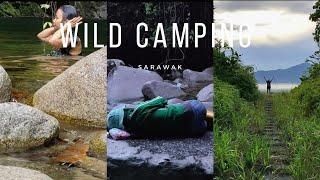 Wild Camping Malaysia - Sleeping Overnight On Big Rock Whole Night, Build Bushcraft Shelter