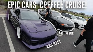 TAKING MY SKYLINE GTR TO IT'S FIRST CARS AND COFFEE!