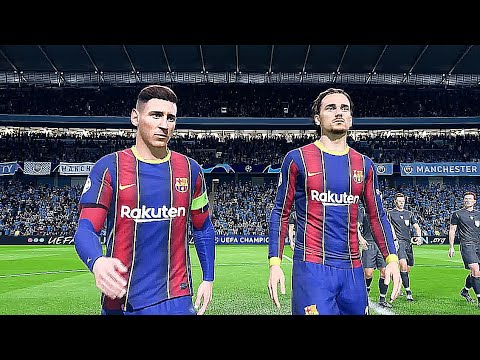 Fifa 21 Fc Barcelona Manchester City Gameplay Pc Hdr Ultimate Mod Youtube