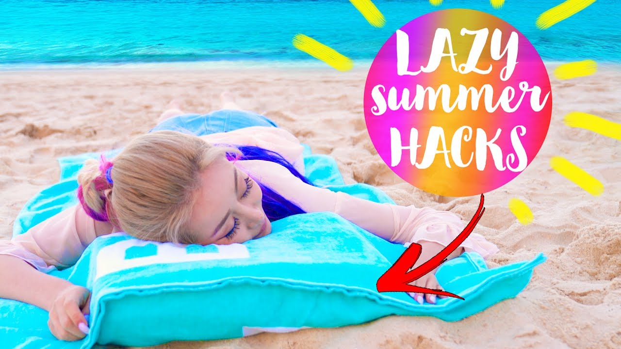 10 DIY Summer Life Hacks EVERY LAZY Person Should Know