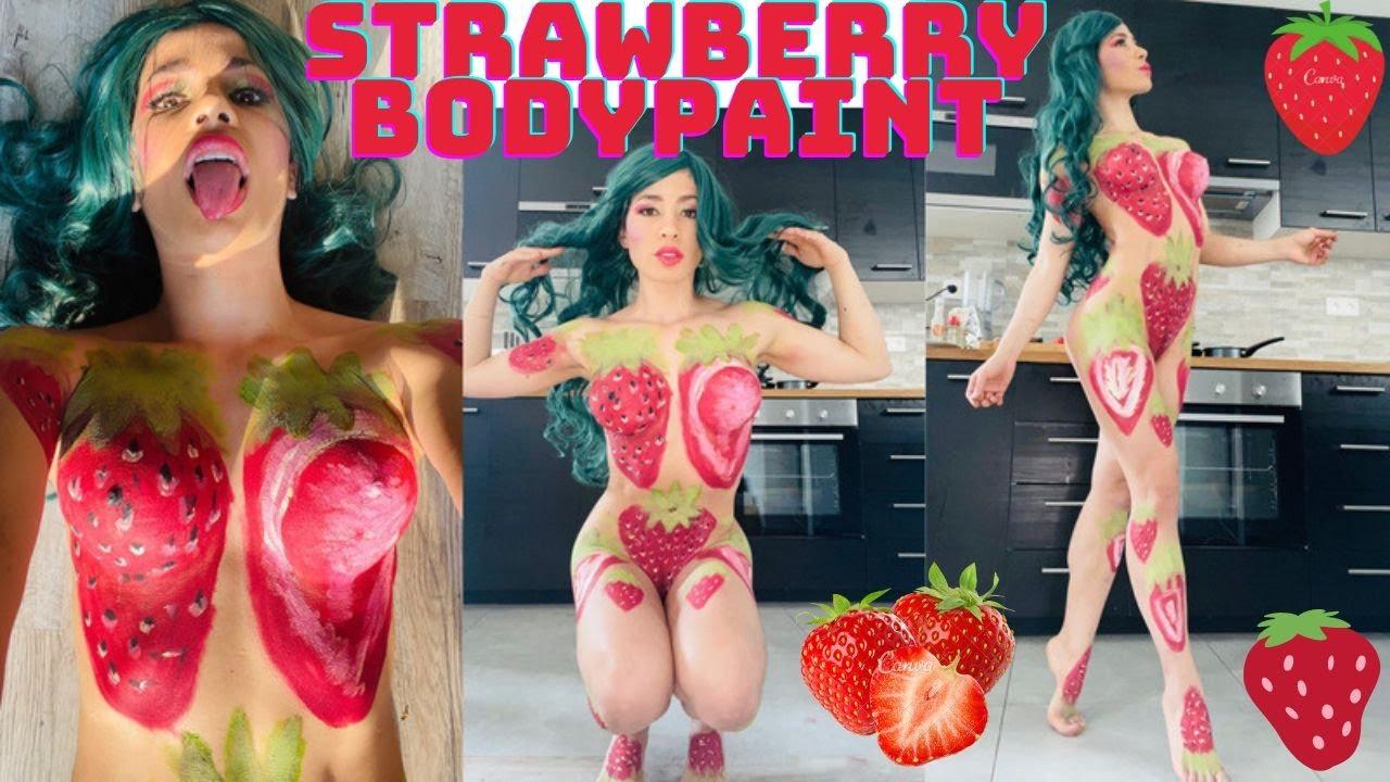 Body Paint Fresas / Pintura En Cuerpo Strawberries
