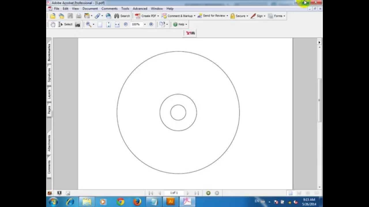 How to use Illustrator tool CD DVD Size - illustrator tutorial ...