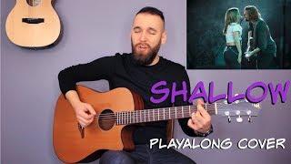 Baixar Lady Gaga, Bradley Cooper - Shallow Guitar Cover Tutorial (lyrics|chords|MusicSheet)