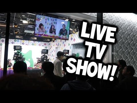 Unreleased Japan Vlog Footage: A LIVE TV SHOW... OUTSIDE?!
