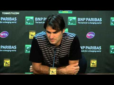 Federer Reacts To Nadal Loss In Indian Wells