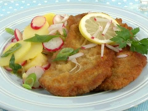 panierter fisch mit kartoffelsalat