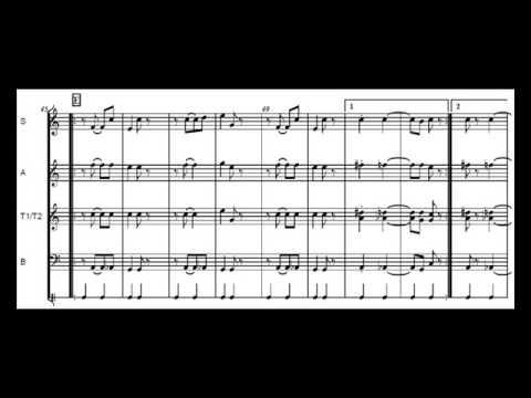 Scott Joplin - Stoptime Rag  - for Recorders SATB - Free Sheet Music