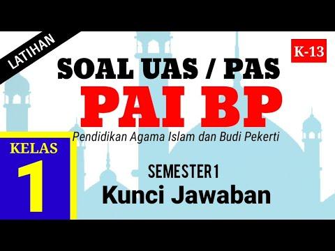 Soal UAS Agama Islam Kelas 1 Semester 1 ( Latihan PAS PAI BP ) dan Kunci Jawaban K13