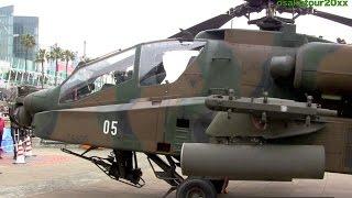 陸上自衛隊 アパッチ曲芸飛行の大サービス! AH-64D Apache Longbow Aerobatics JGSDF アパッチ・ロングボウ